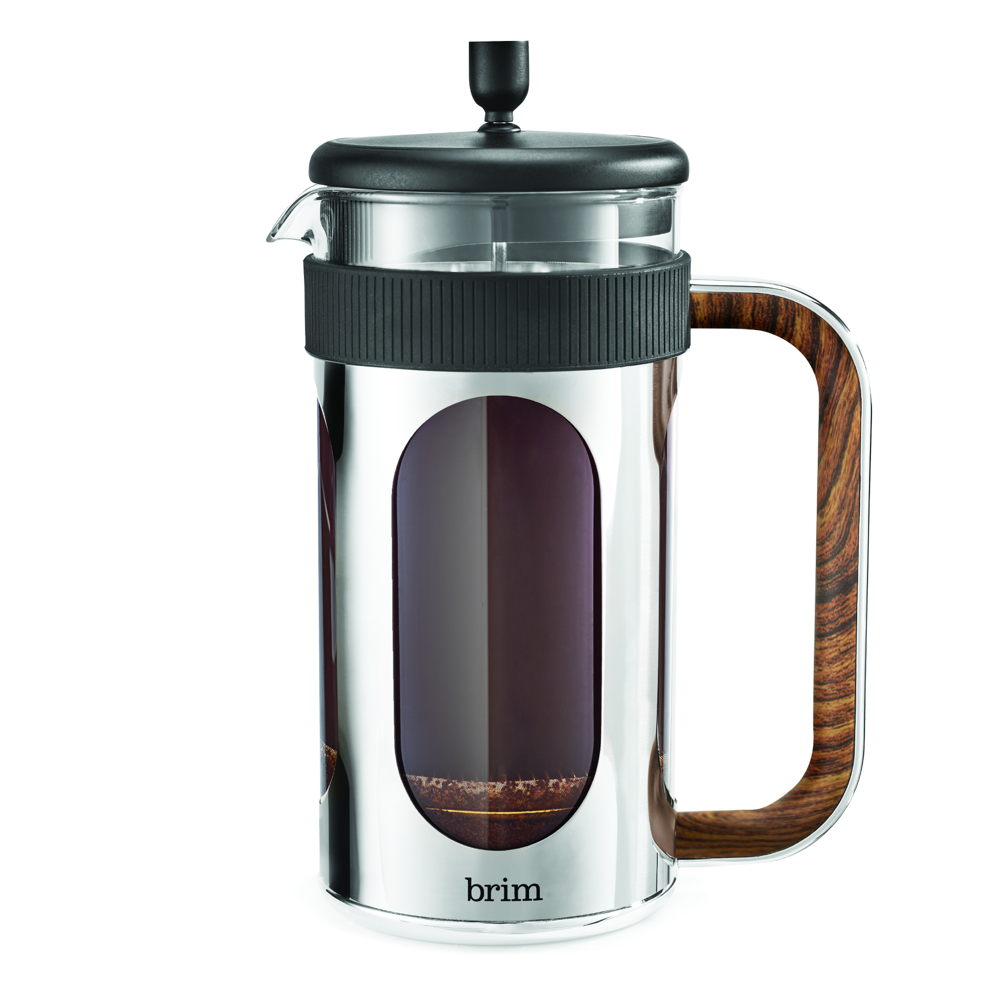 8 Cup French Press with Wood finish Handle