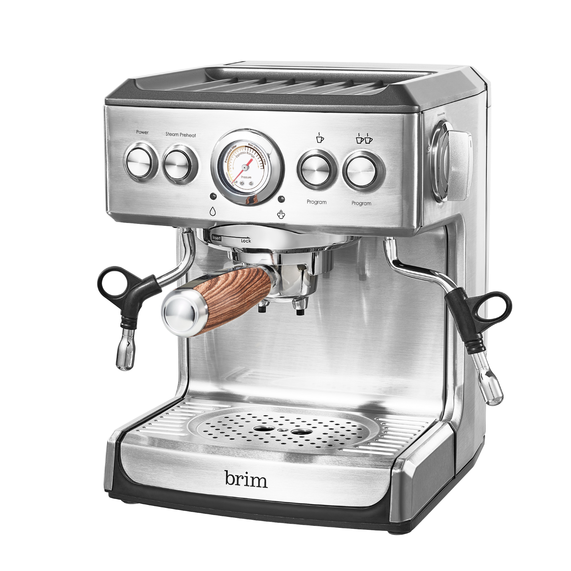 19 Bar Espresso Maker with Wood Handle